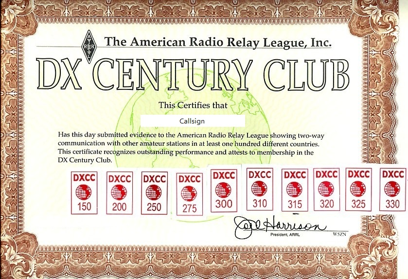 DXCC_Award_Muster